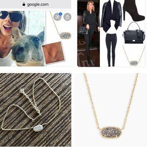Kendra Scott platinum Druzy Elisa necklace